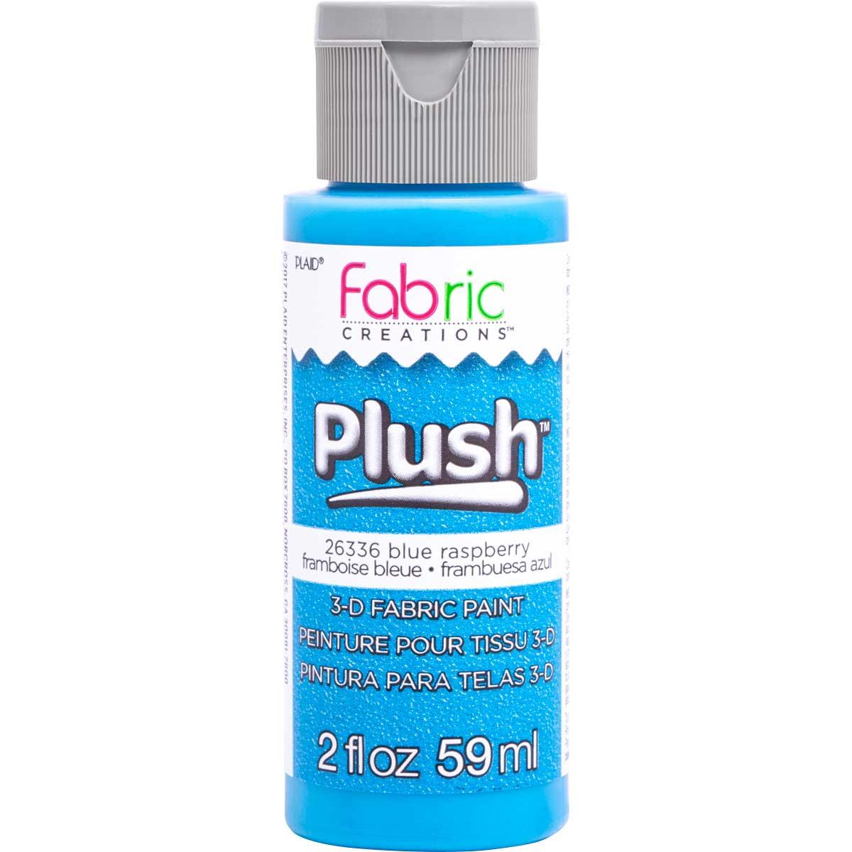 Fabric Creations™ Plush™ 3-D Fabric Paints - Blue Raspberry, 2 oz.