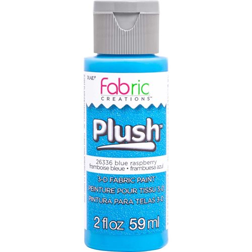 Fabric Creations™ Plush™ 3-D Fabric Paints - Blue Raspberry, 2 oz. - 26336