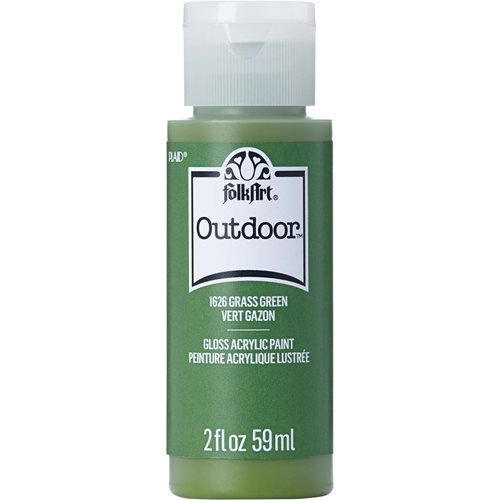 FolkArt ® Outdoor™ Acrylic Colors - Grass Green, 2 oz.