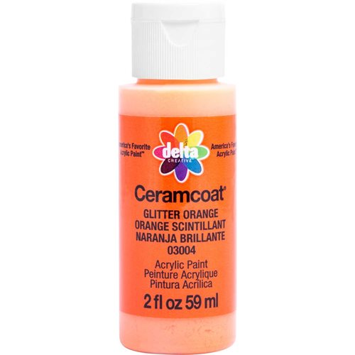 Delta Ceramcoat ® Acrylic Paint - Glitter Orange, 2 oz.