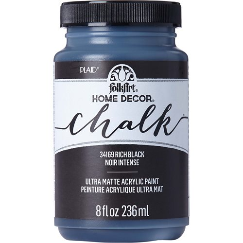 FolkArt ® Home Decor™ Chalk - Black, 8 oz. - 34169
