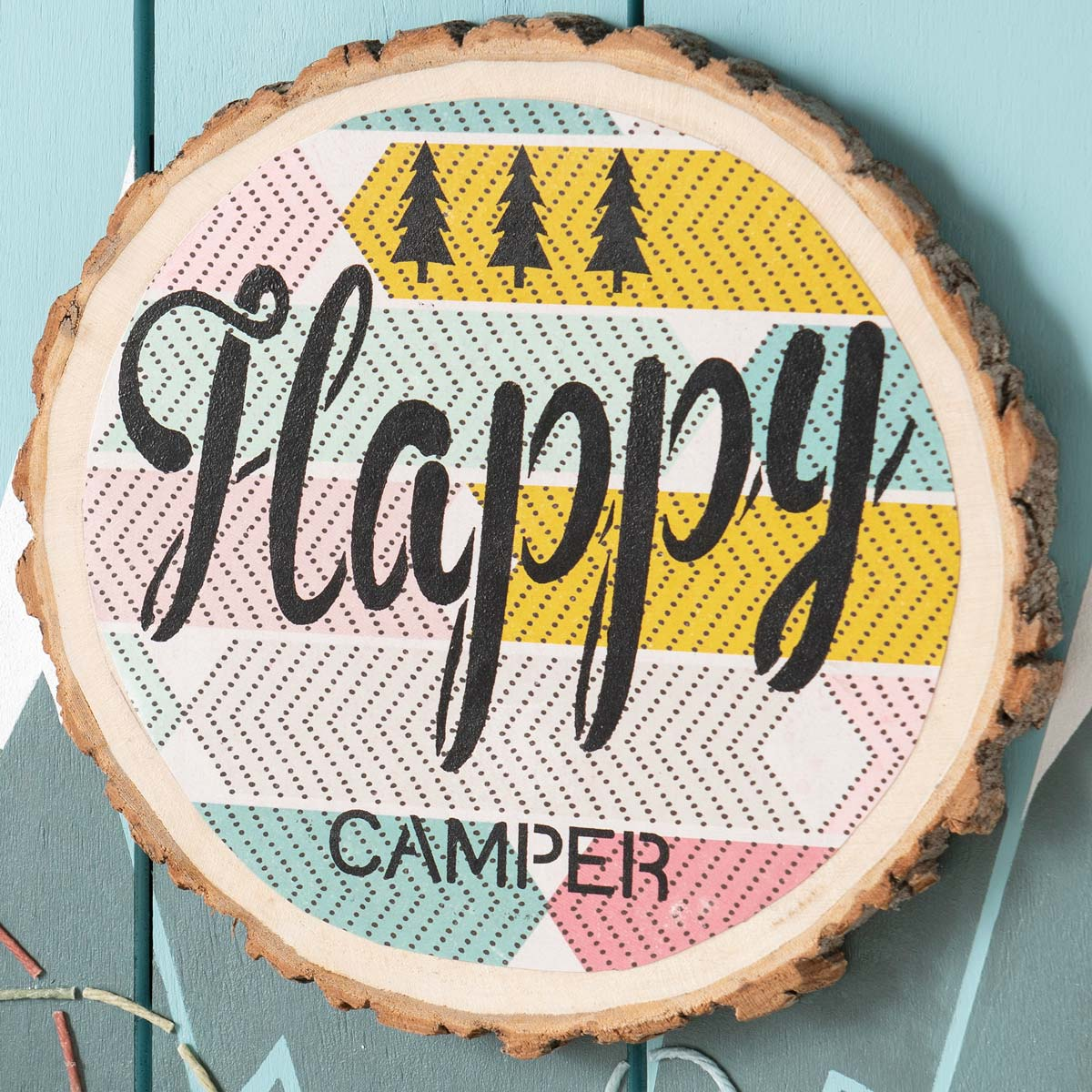 Camping Home Decor Idea - Happy Camper Sign