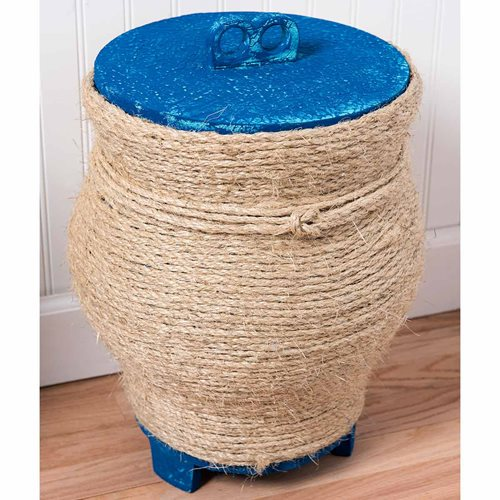 Coastal Decor Basket Side Table