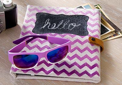 Ombre Radiant Orchid Chevron Tablet Case