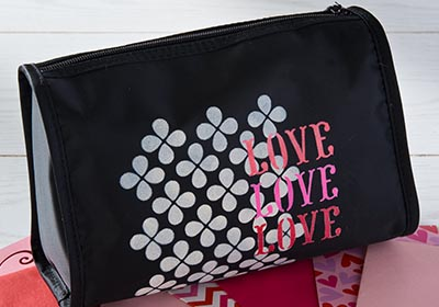 Love Love Love Cosmetic Bag