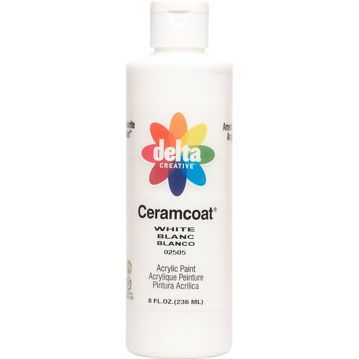 Delta Ceramcoat ® Acrylic Paint - White, 8 oz. - 025050802W