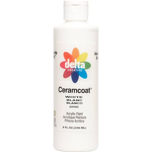 Delta Ceramcoat ® Acrylic Paint - White, 8 oz. - 025050802W