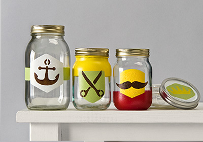 Handmade Charlotte Labeled Glass Containers
