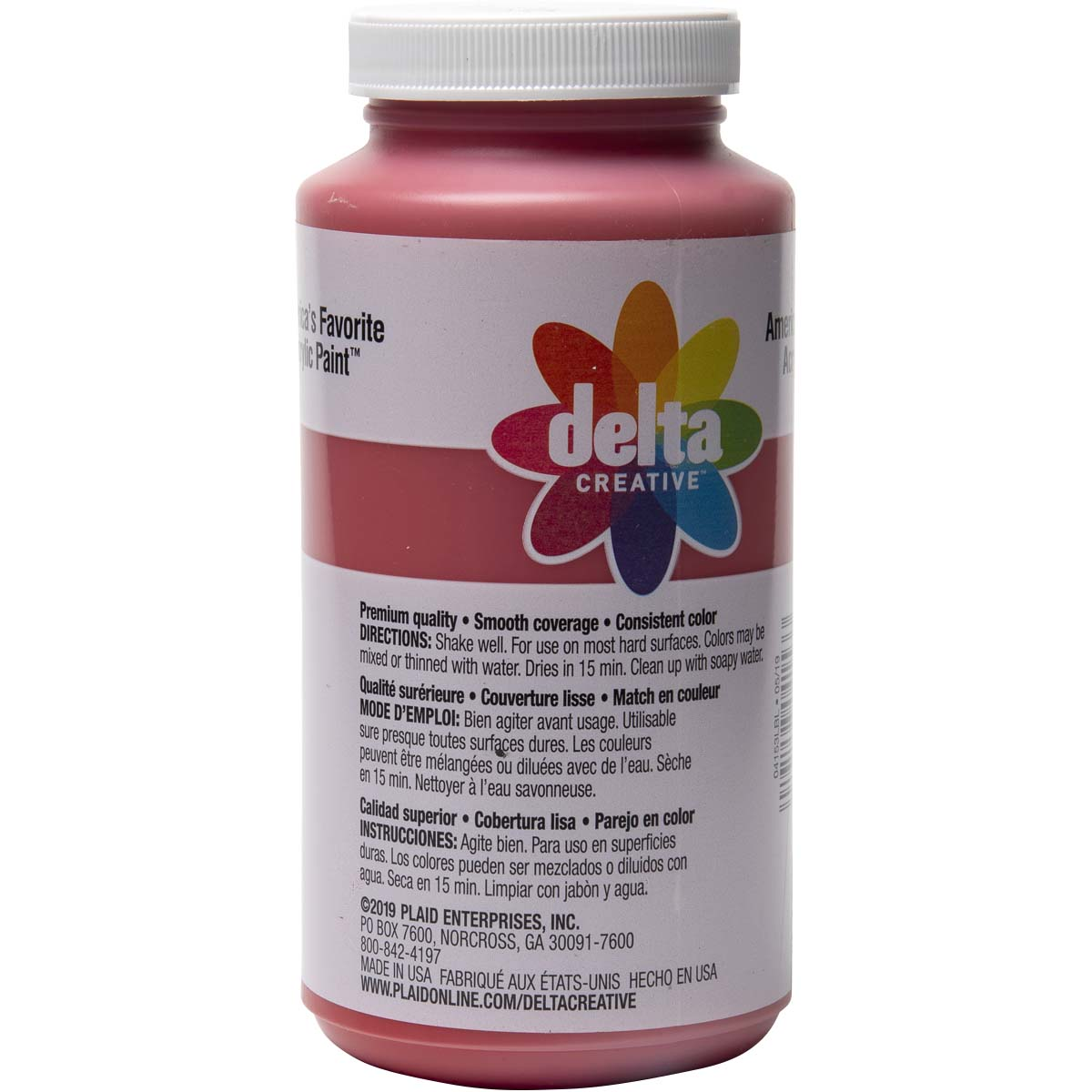 Delta Ceramcoat ® Acrylic Paint - Bright Red, 16 oz.