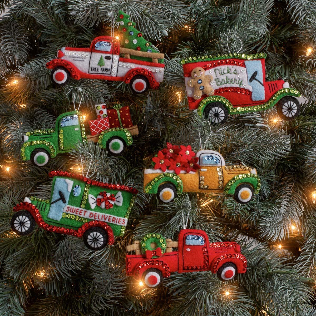 Shop Plaid Bucilla ® Seasonal - Felt - Ornament Kits ...