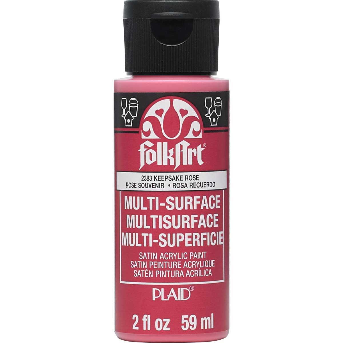 FolkArt ® Multi-Surface Satin Acrylic Paints - Keepsake Rose, 2 oz. - 2383