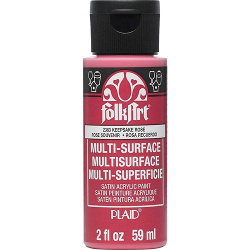 FolkArt ® Multi-Surface Satin Acrylic Paints - Keepsake Rose, 2 oz.