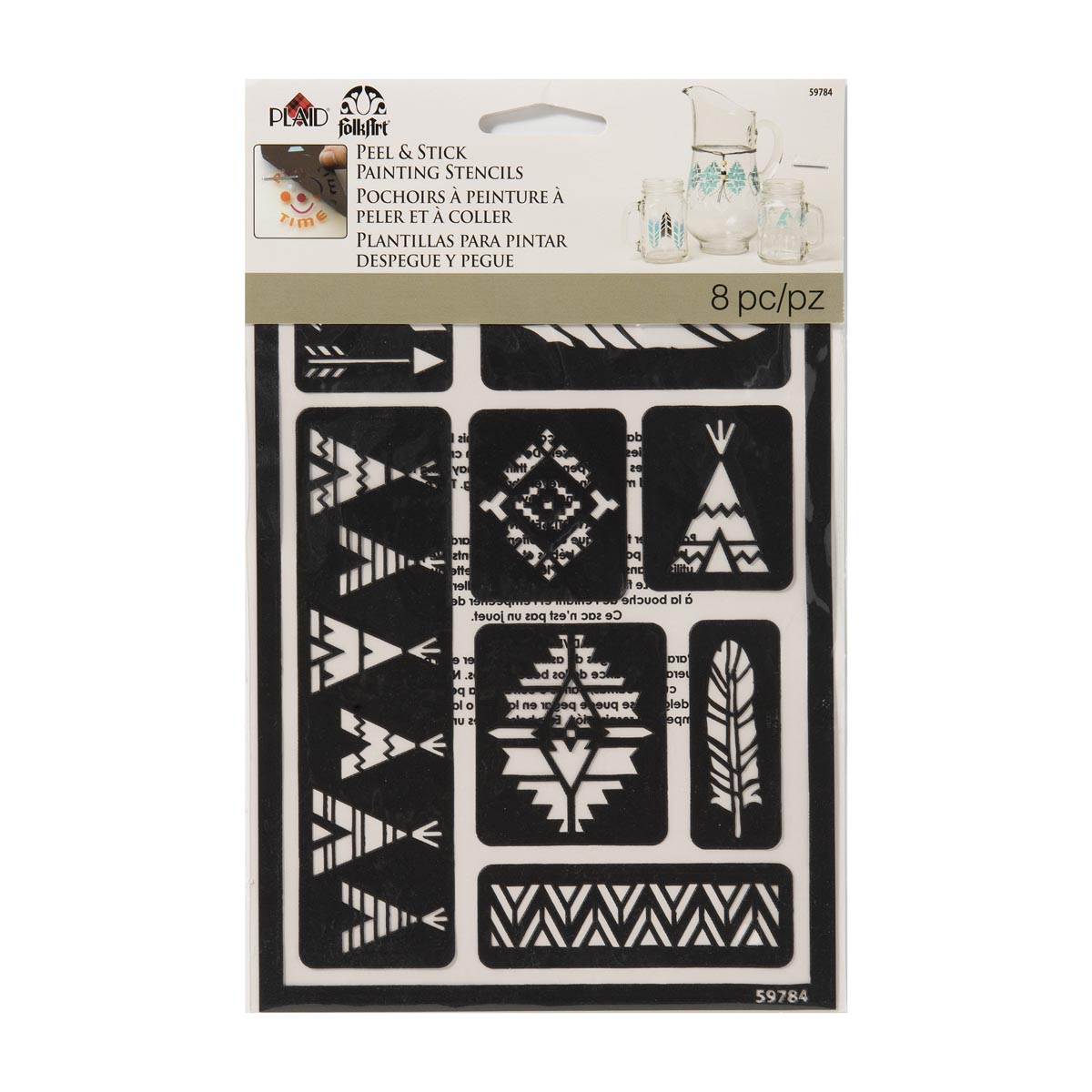 FolkArt ® Peel & Stick Painting Stencils - Tribal - 59784