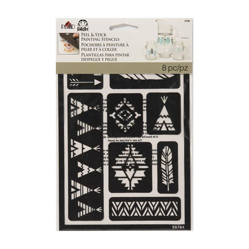 FolkArt ® Peel & Stick Painting Stencils - Tribal