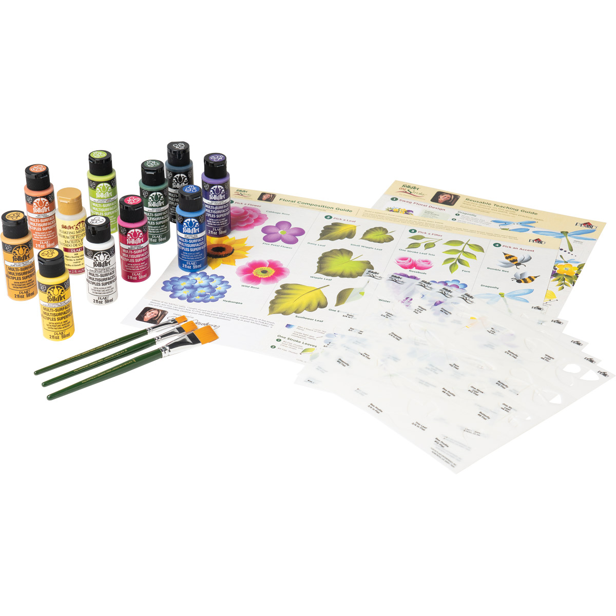 FolkArt ® One Stroke™ Beginner Foundation Stencil and Painting Kit - 99273