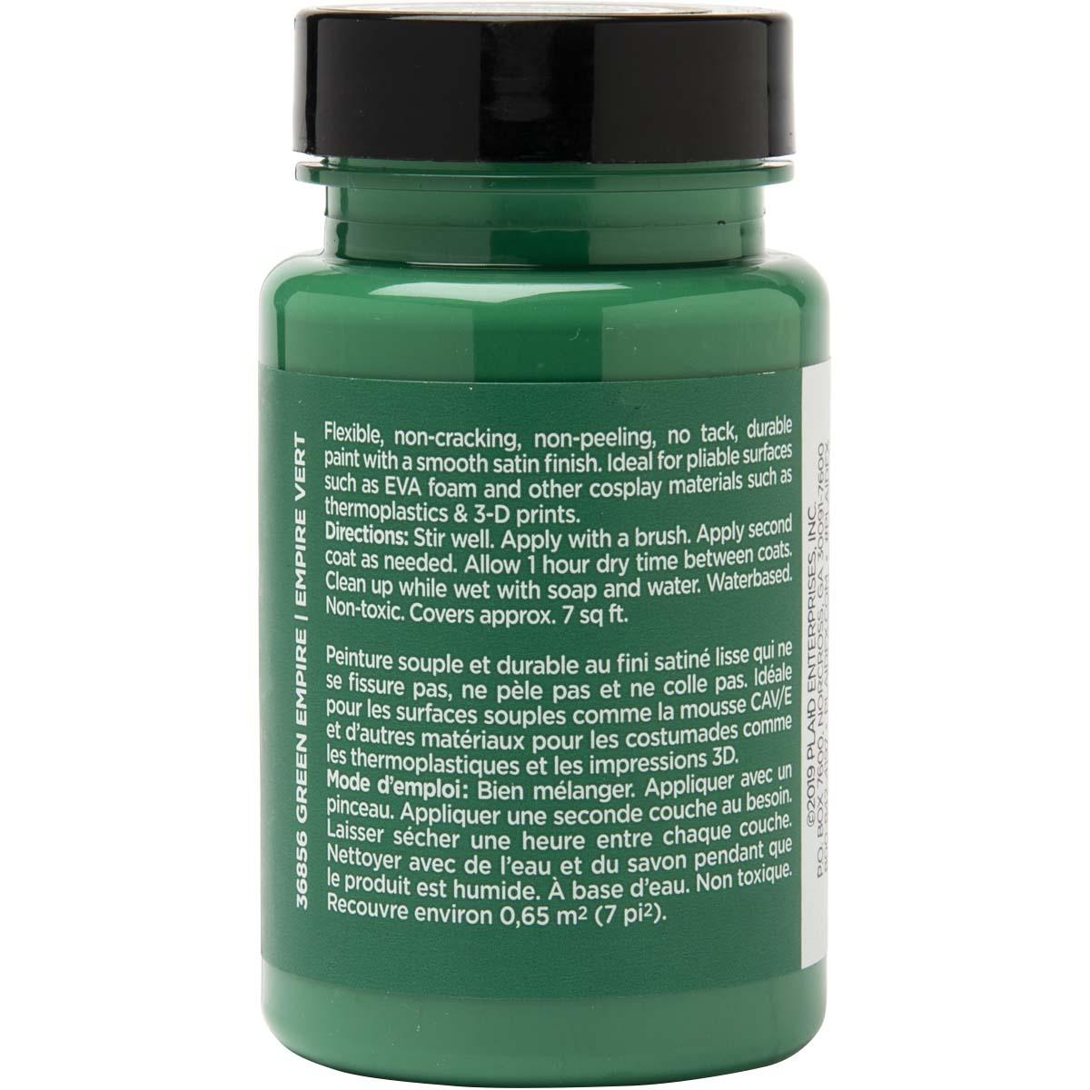 PlaidFX Smooth Satin Flexible Acrylic Paint - Green Empire, 3 oz. - 36856