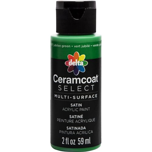 Delta Ceramcoat ® Select Multi-Surface Acrylic Paint - Satin - Jubilee Green, 2 oz. - 04017