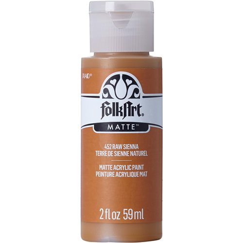 FolkArt ® Acrylic Colors - Raw Sienna, 2 oz. - 452