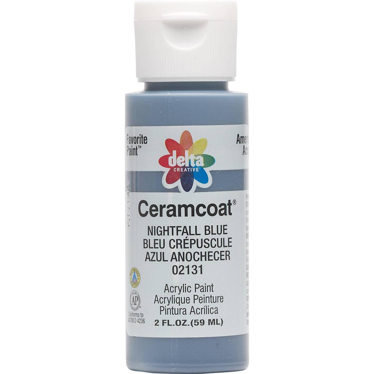 Delta Ceramcoat ® Acrylic Paint - Nightfall Blue, 2 oz.