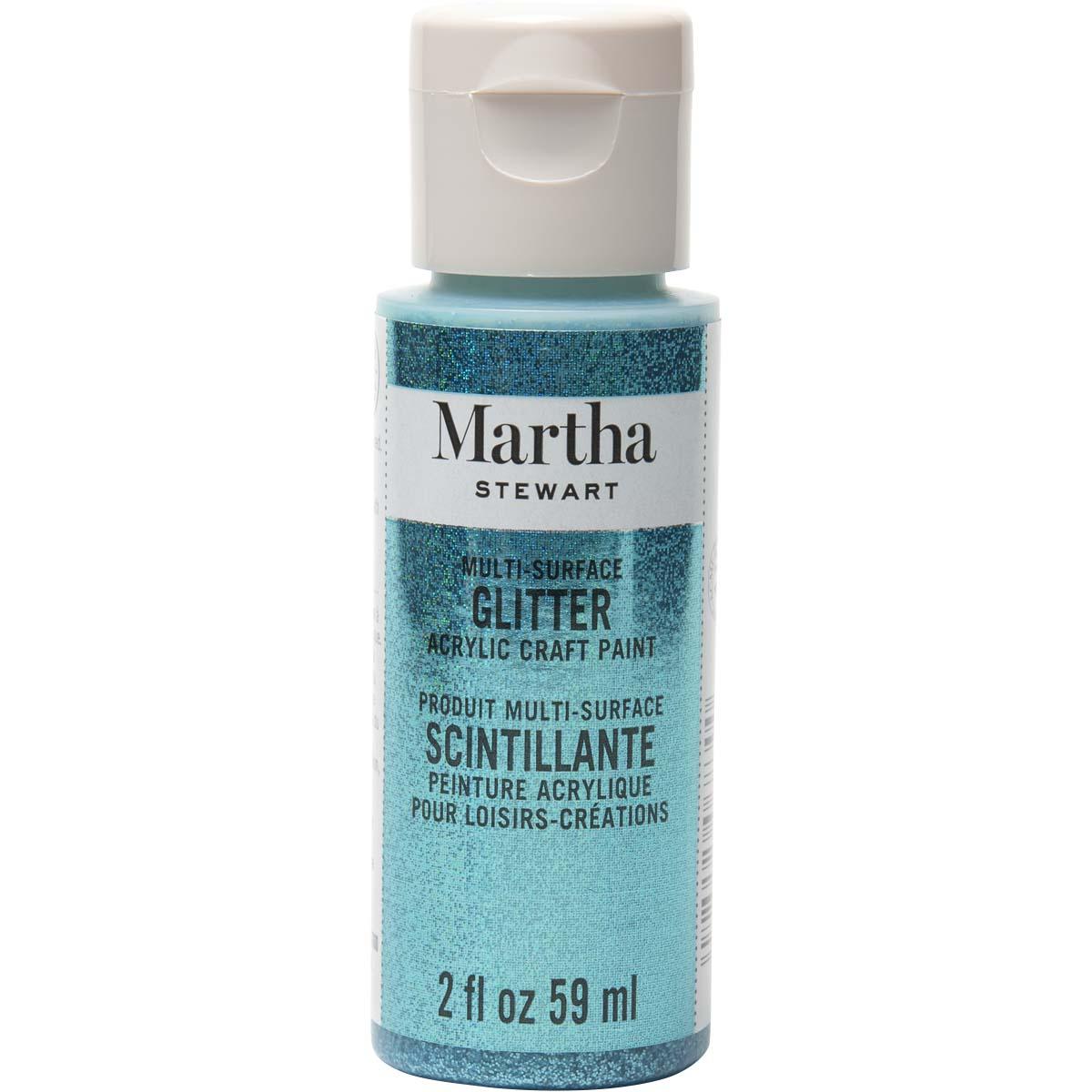 Martha Stewart ® Multi-Surface Glitter Acrylic Craft Paint - Turquoise, 2 oz. - 32157CA