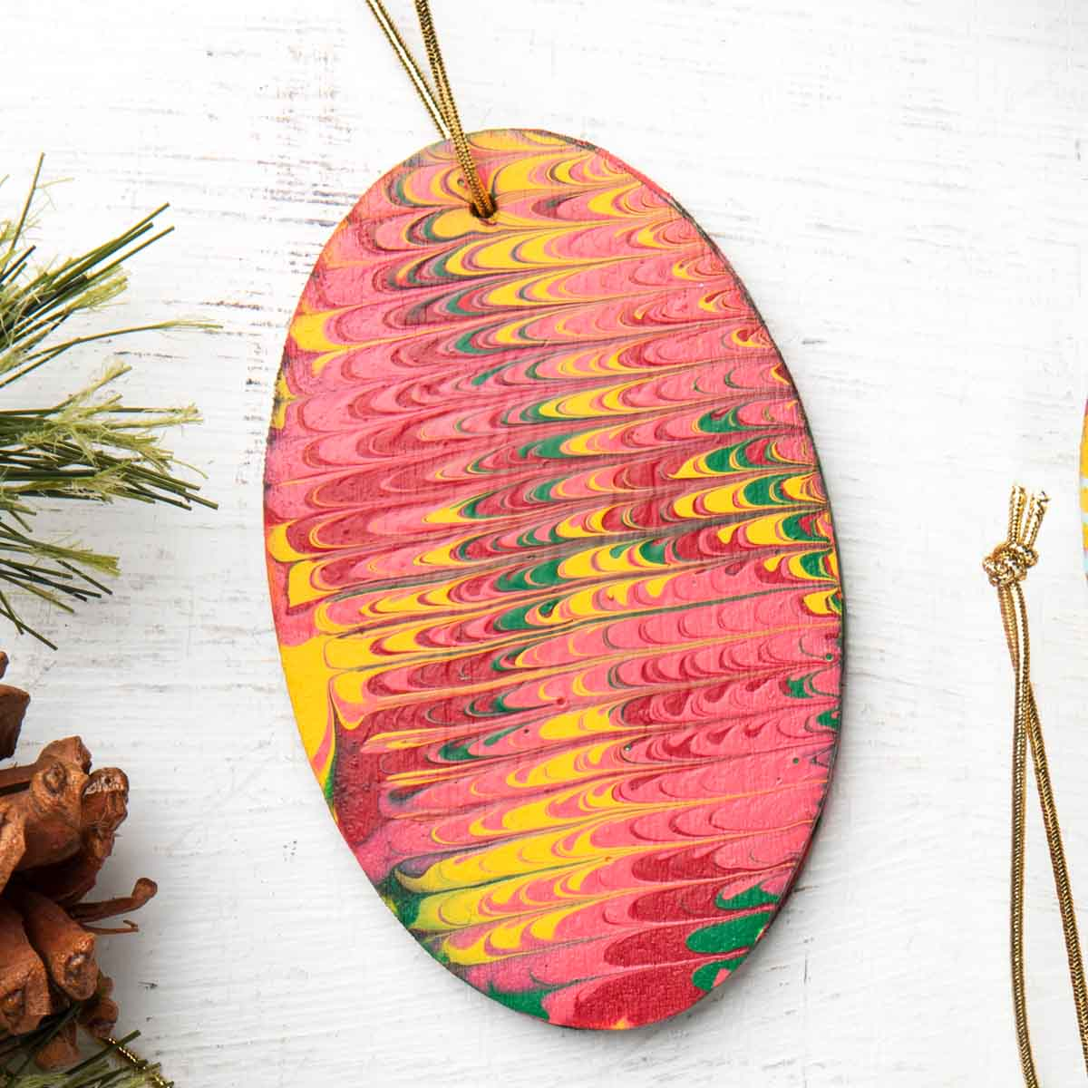 DIY Marbled Ornaments
