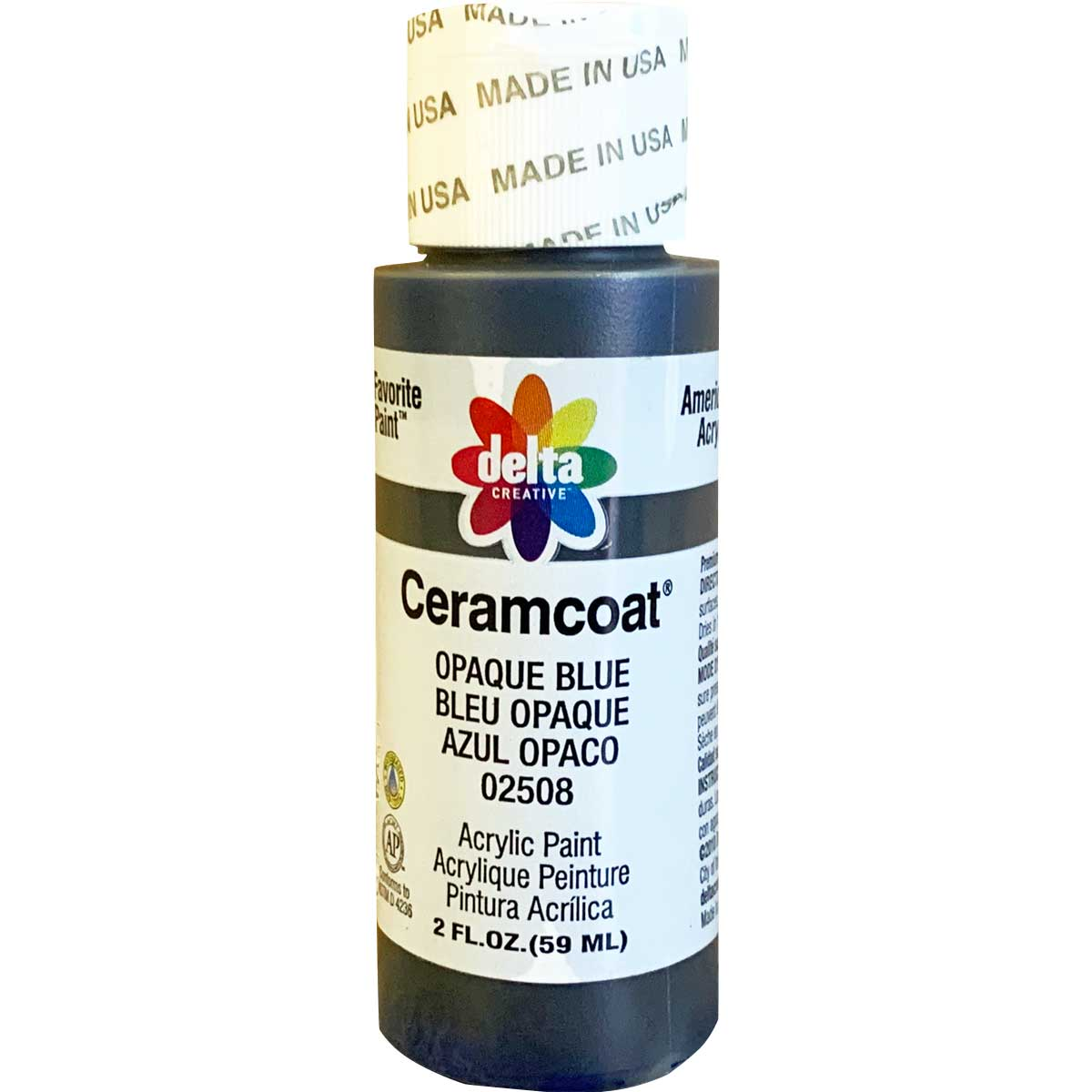 Delta Ceramcoat ® Acrylic Paint - Opaque Blue, 2 oz. - 025080202W