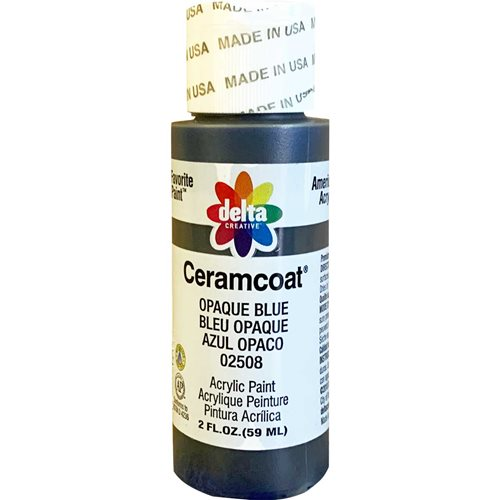 Delta Ceramcoat ® Acrylic Paint - Opaque Blue, 2 oz.