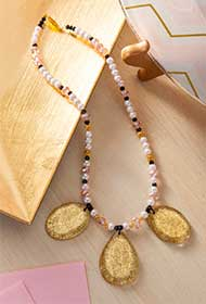 Gold Glitter Statement Necklace