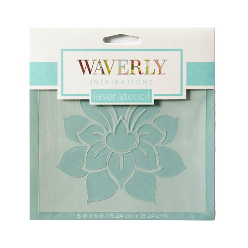 "Waverly ® Inspirations Laser Stencils - Accent - Damask, 6"" x 6"" - 60530E"