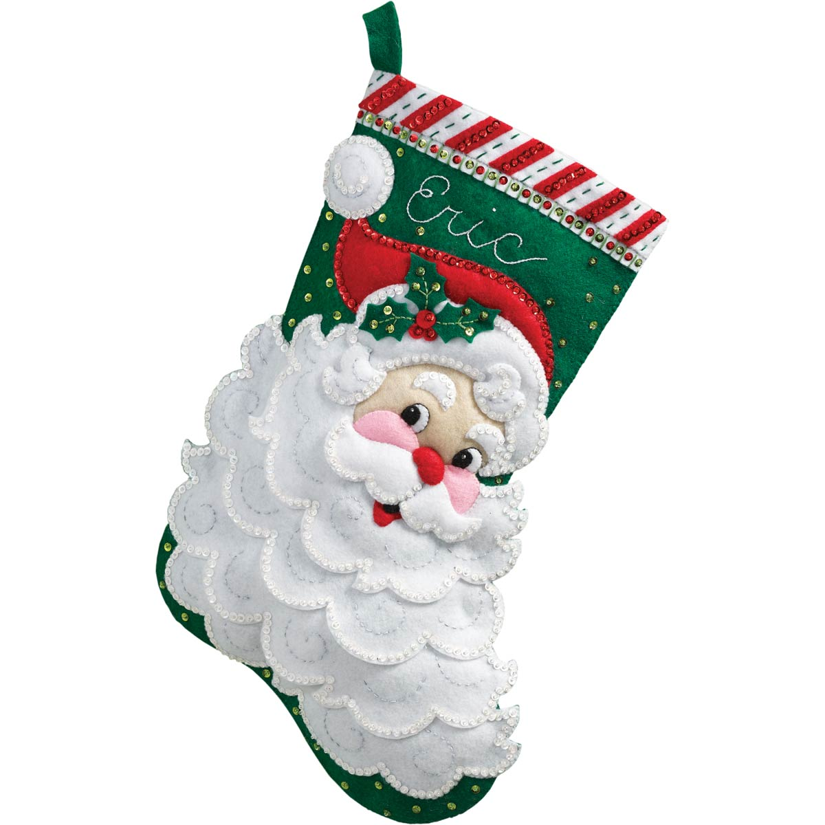 Bucilla ® Seasonal - Felt - Stocking Kits - Jolly Saint Nick - 86648