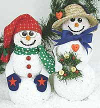 Holiday Snow Couple