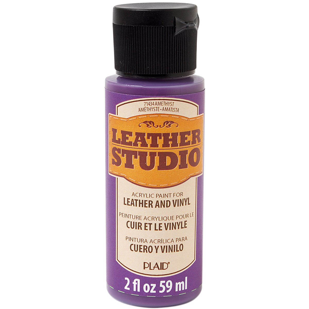 Leather Studio™ Leather & Vinyl Paint Colors - Amethyst, 2 oz.