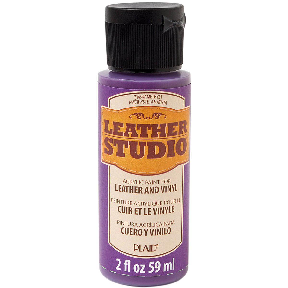 Leather Studio™ Leather & Vinyl Paint Colors - Amethyst, 2 oz.
