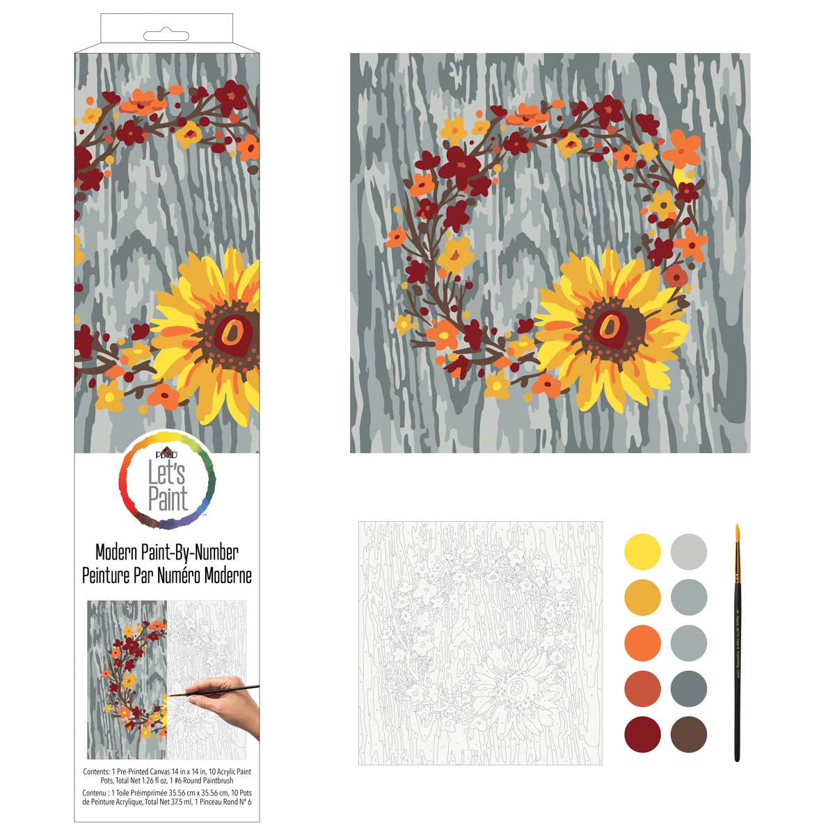 Plaid ® Let's Paint™ Modern Paint-by-Number - Fall Wreath - 17913