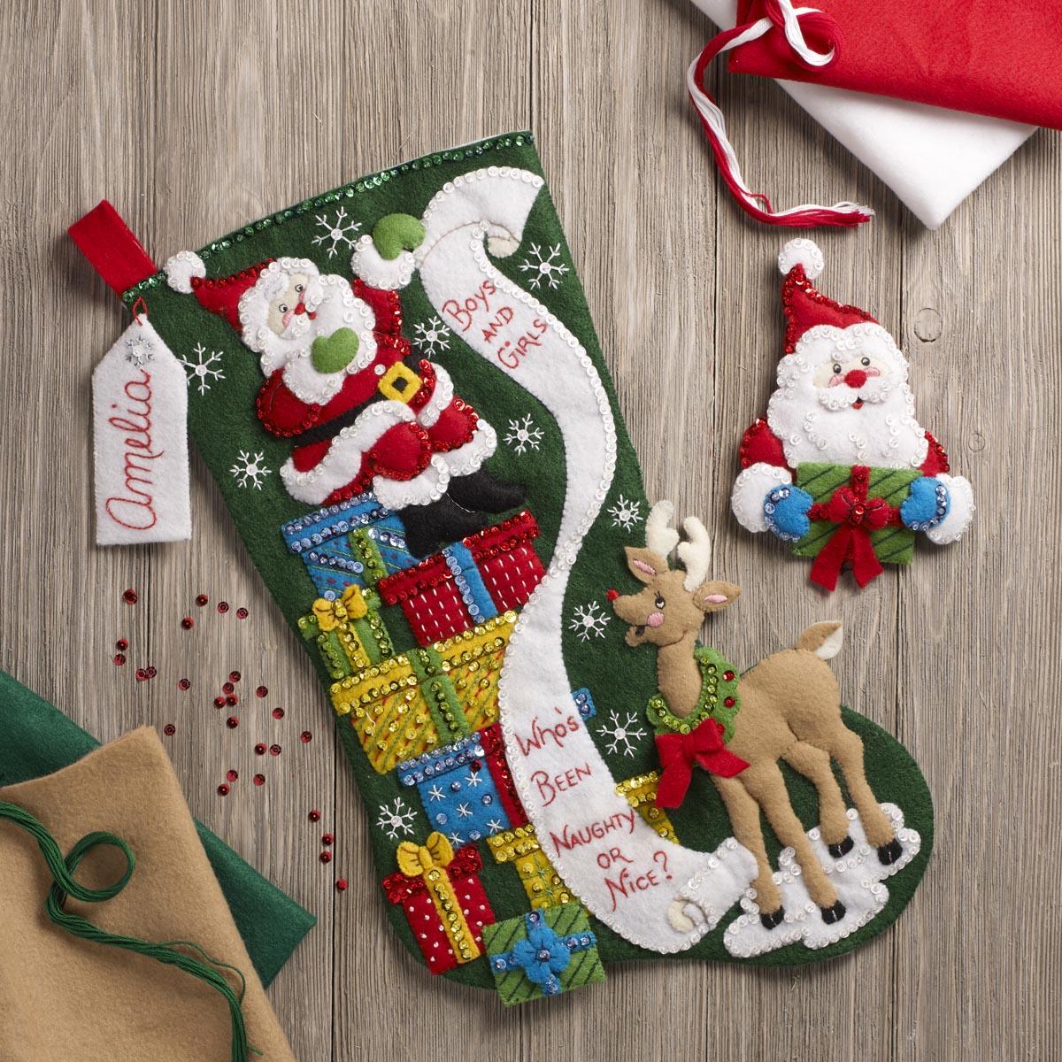 Bucilla ® Seasonal - Felt - Stocking Kits - The List