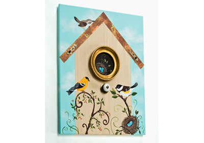 Bird and Birdhouse Dimensional Canvas