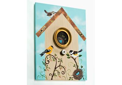 Bird and Birdhouse Dimensional Canvas
