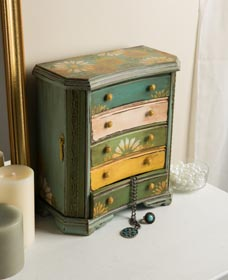 Thrift Shop DIY - Upcycled Jewelry Box