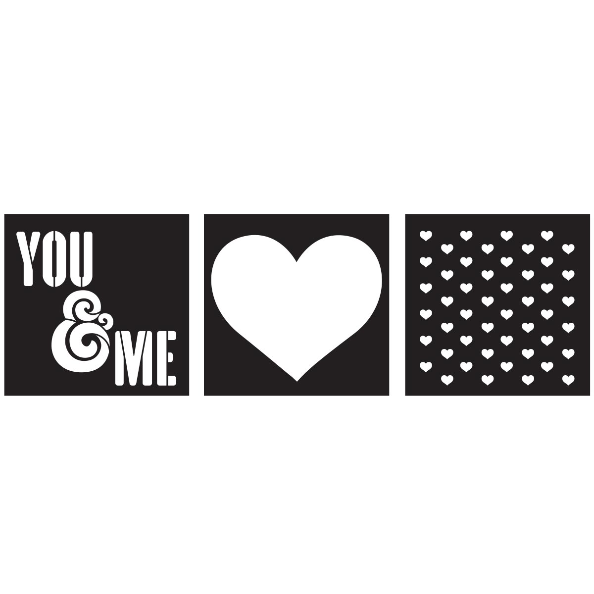 FolkArt ® Craft Stencils - Value Packs - You & Me - 25618