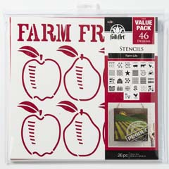 "FolkArt ® Stencil Value Packs - Farm Life, 12"" x 12"""