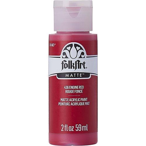 FolkArt ® Acrylic Colors - Engine Red, 2 oz. - 436