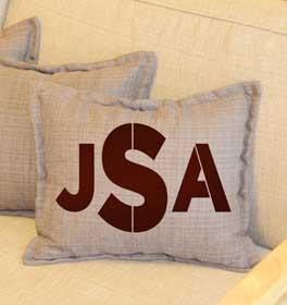Bold Monogram Throw Pillow