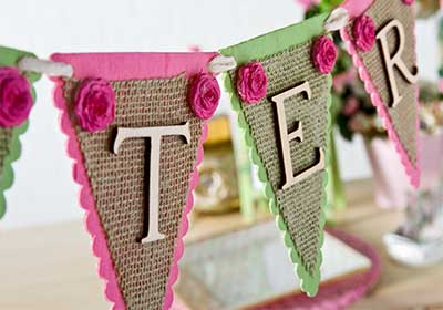 Easter Burlap and Wood Banner