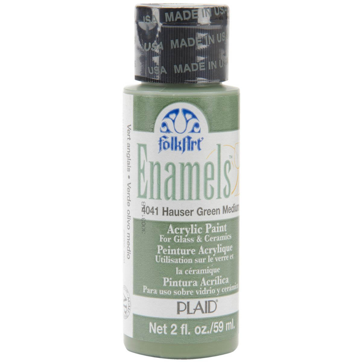 FolkArt ® Enamels™ - Hauser Green Medium, 2 oz.