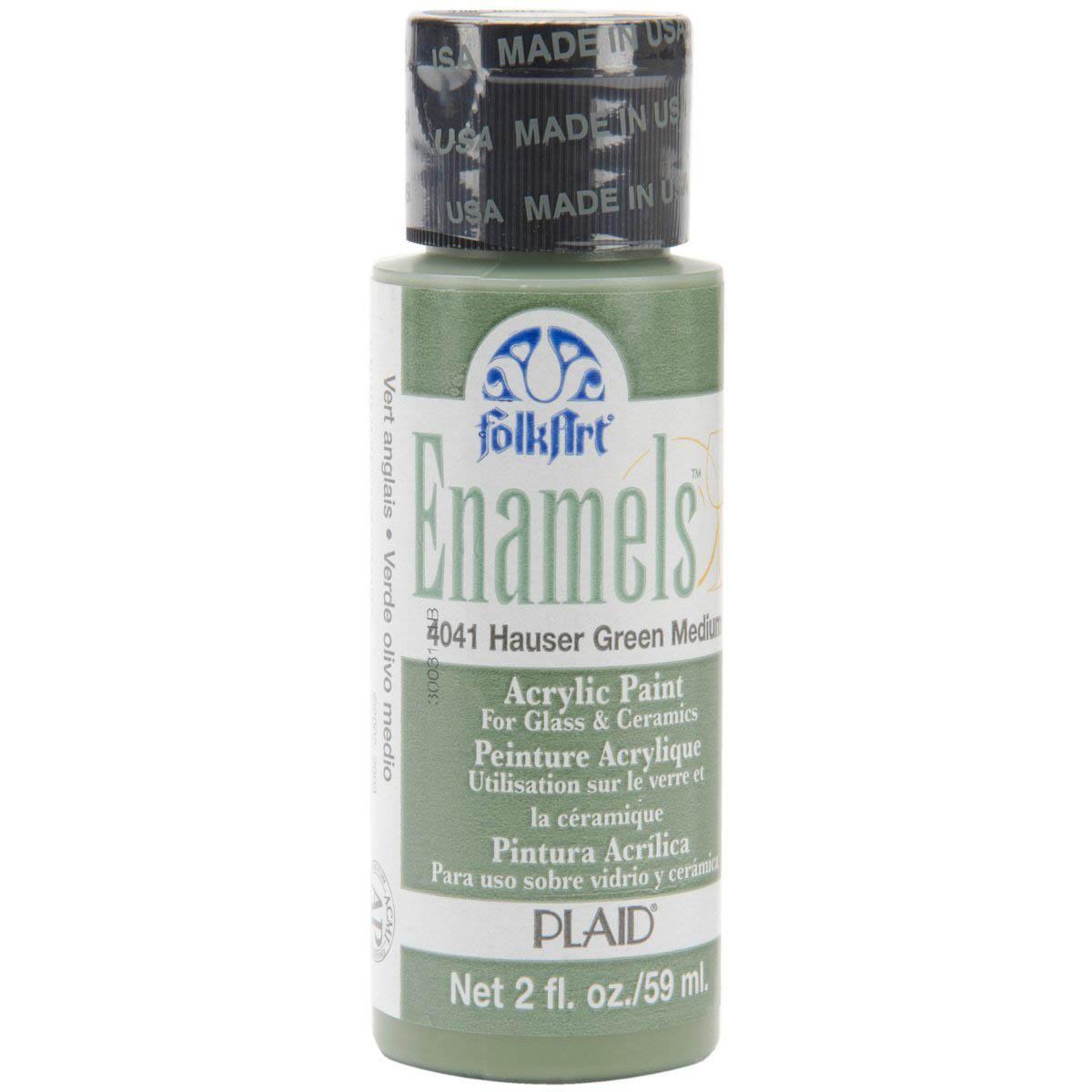 FolkArt ® Enamels™ - Hauser Green Medium, 2 oz.