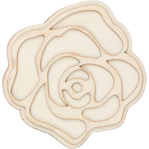 Plaid ® Wood Surfaces - Unpainted Layered Shapes - Rose - 44968