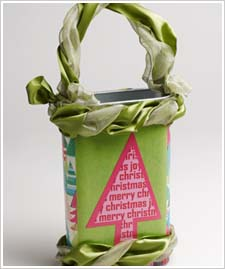 Recycled Cereal Box Christmas Tree Tote