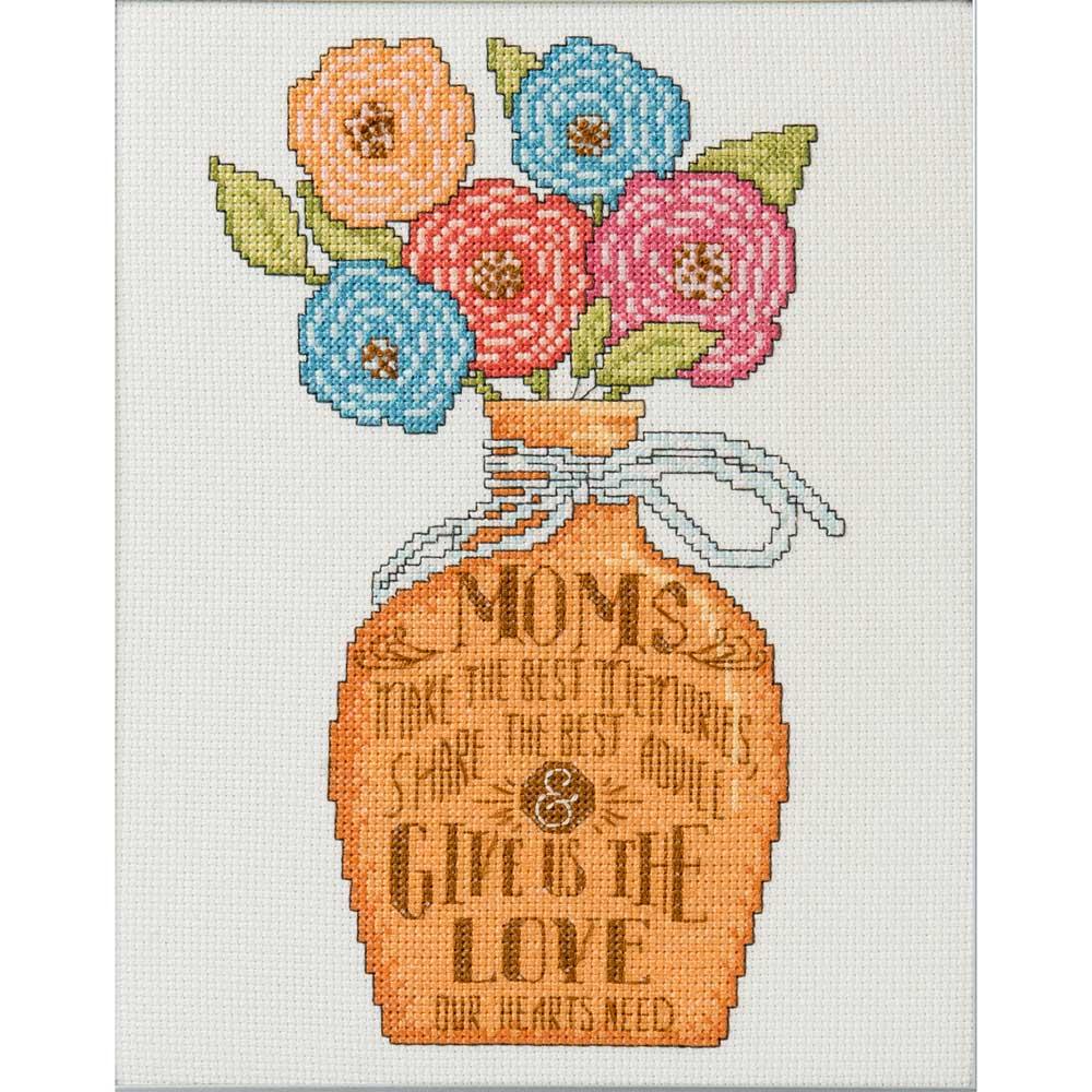 Bucilla ® Counted Cross Stitch - Picture Kits - Hallmark - Bright Blooms