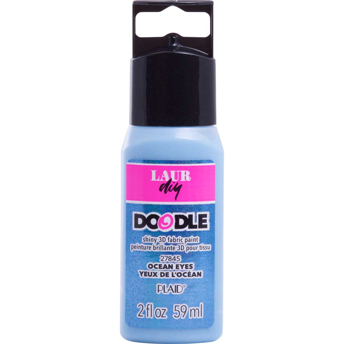LaurDIY ® Doodle 3D Fabric Paint - Ocean Eyes, 2 oz.