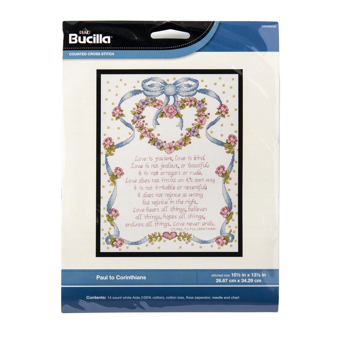 Bucilla ® Counted Cross Stitch - Picture Kits - Paul to Corinthians - WM49003E